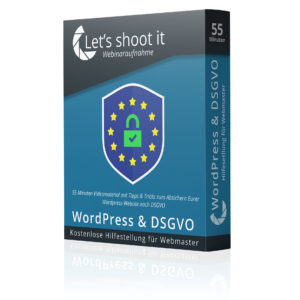 Webinar DSGVO Tipps für WordPress-Webmaster